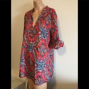 *onhold* SzL-XL cotton JCrew paisley perfect tunic